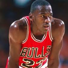 Michael Jordan playing for the Bulls