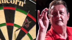 Bristow showing that little finger and also that occasionally he threw a rubbish dart!