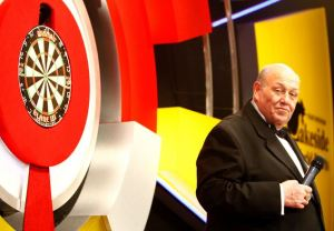 Martin Fitzmaurice on stage at the BDO World Darts Championships