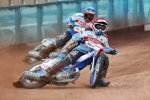 Kacmer Pomolski and Kyle Newman in action. Picture: PoolePirates.co