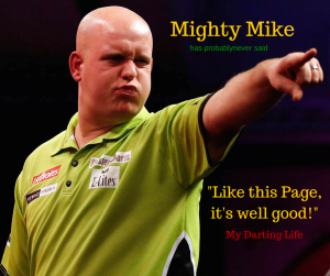 Click van Gerwen's face to join our mega Facebook page...