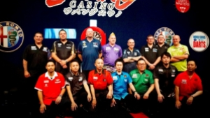 Japan Darts Masters field - half of which already appeared to be on their knees!