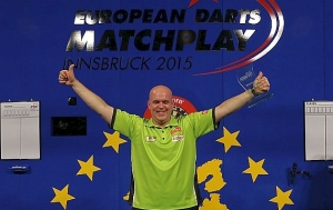 MVG celebrates winning the European Darts Matchplay Image: pdc-europe.tv