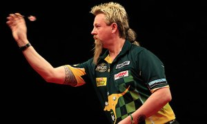 Simon Whitlock - on the slide. Photo: theguardian.com
