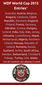WDF World Cup 2015 Entries