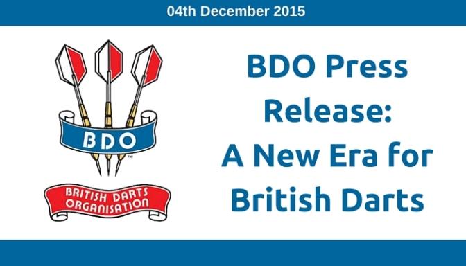BDO: A New Era for British Darts