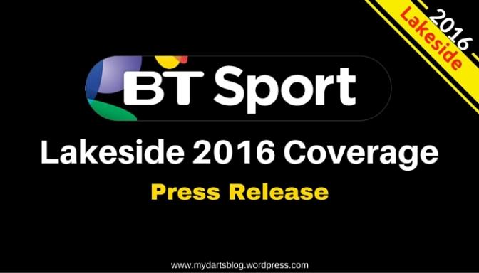 Lakeside 2016: BT Sport TV Schedule